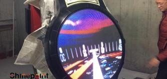 鑫普特科技手表造型室内P3圆盘LED全彩屏出货韩国